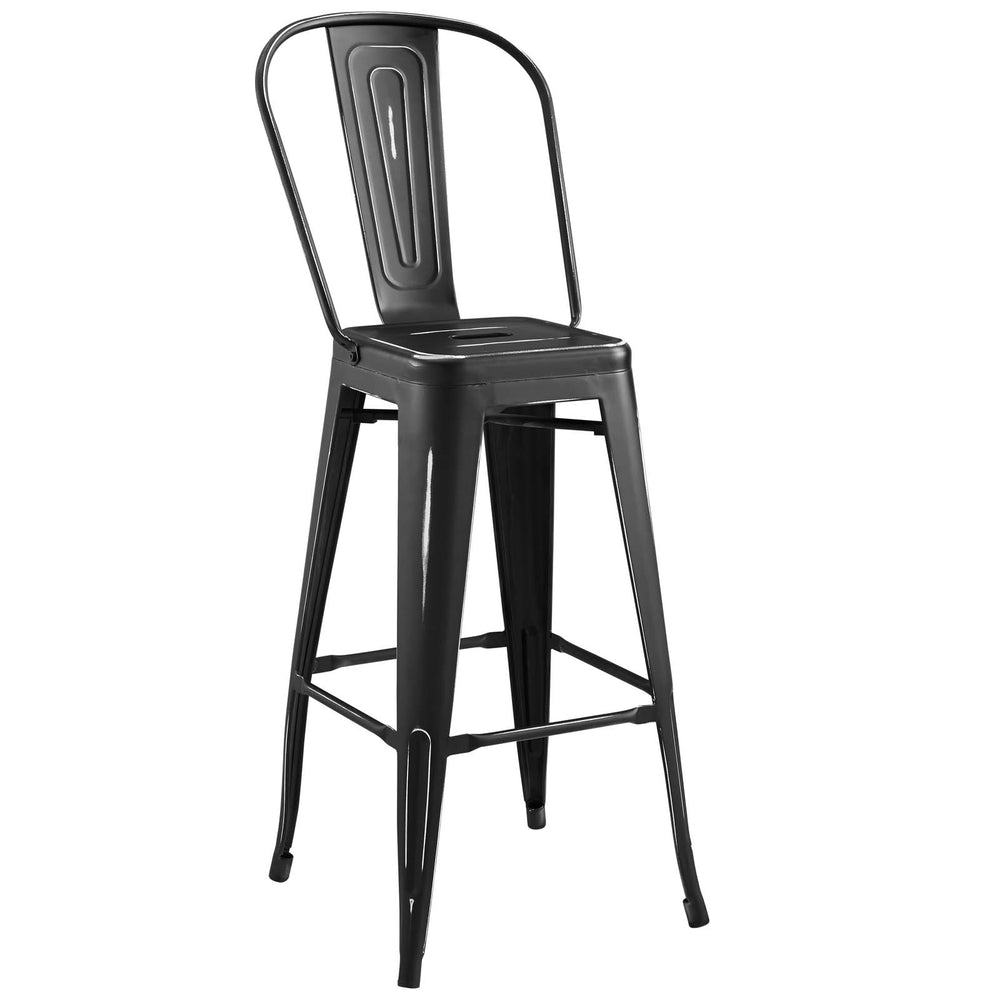 Promenade Metal Bar Side Stool-Bar and Counter Stools-Modway-Wall2Wall Furnishings