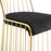 Rivulet Gold Stainless Steel Upholstered Velvet Bar Stool-Bar and Counter Stools-Modway-Wall2Wall Furnishings