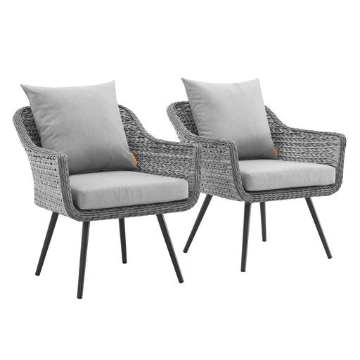 Endeavor Armchair Outdoor Patio Wicker Rattan Set of 2-Outdoor Set-Modway-Wall2Wall Furnishings