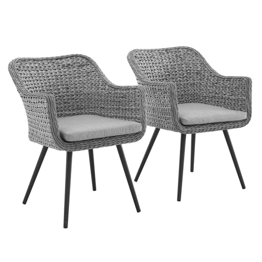 Endeavor Dining Armchair Outdoor Patio Wicker Rattan Set of 2-Outdoor Set-Modway-Wall2Wall Furnishings