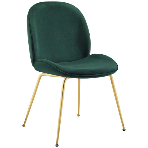 Scoop Gold Stainless Steel Leg Performance Velvet Dining Chair-Dining Chair-Modway-Wall2Wall Furnishings