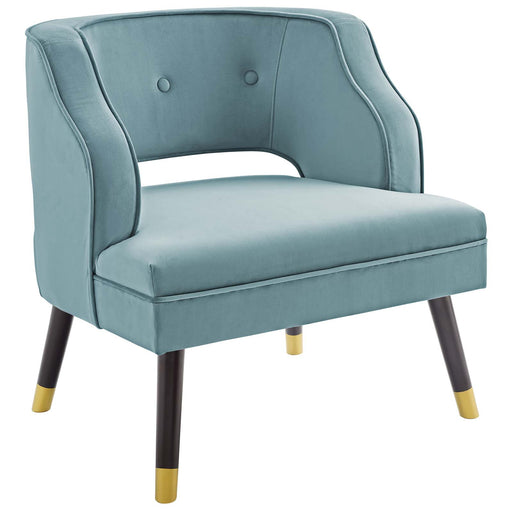 Traipse Button Tufted Open Back Performance Velvet Armchair-Armchair-Modway-Wall2Wall Furnishings