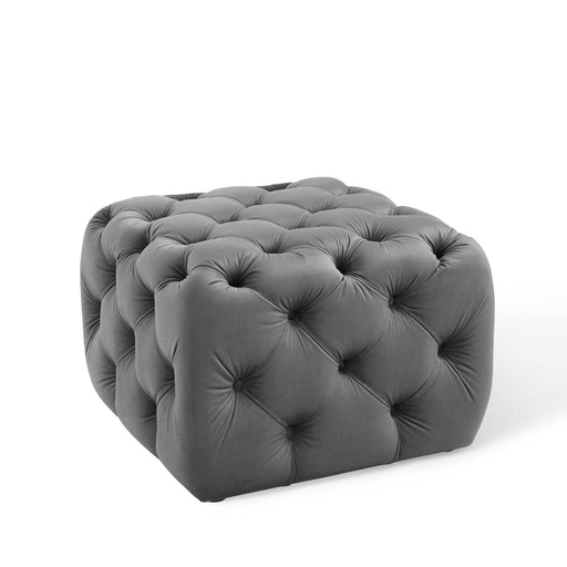 Anthem Tufted Button Square Performance Velvet Ottoman-Ottoman-Modway-Wall2Wall Furnishings