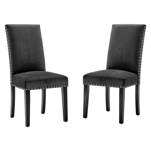 Parcel Performance Velvet Dining Side Chairs - Set of 2-Dining Chair-Modway-Wall2Wall Furnishings