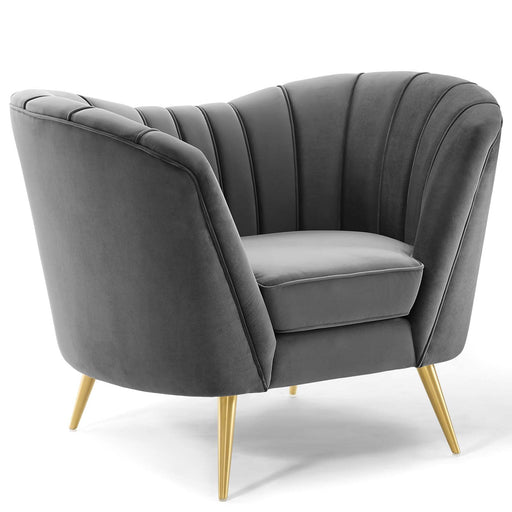 Opportunity Performance Velvet Armchair-Armchair-Modway-Wall2Wall Furnishings