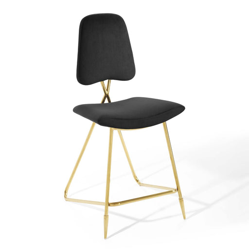 Ponder Performance Velvet Counter Stool-Counter Stool-Modway-Wall2Wall Furnishings