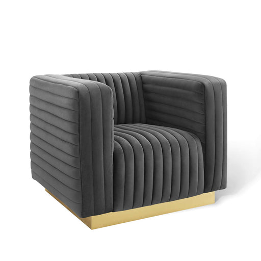 Charisma Channel Tufted Performance Velvet Accent Armchair-Armchair-Modway-Wall2Wall Furnishings