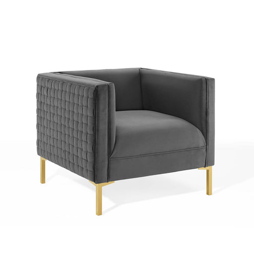 Resonate Performance Velvet Armchair-Armchair-Modway-Wall2Wall Furnishings