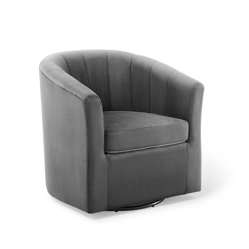 Prospect Performance Velvet Swivel Armchair-Armchair-Modway-Wall2Wall Furnishings