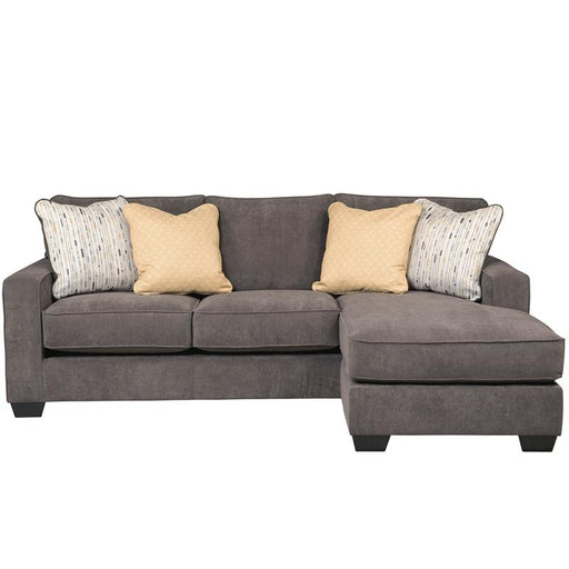 Signature Design by Ashley Hodan Sofa Chaise in Microfiber-Sofa-Flash Furniture-Wall2Wall Furnishings