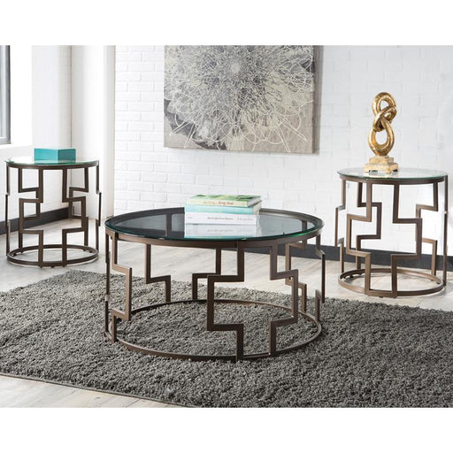 Signature Design by Ashley Frostine 3 Piece Occasional Table Set-Coffee Table-Flash Furniture-Wall2Wall Furnishings