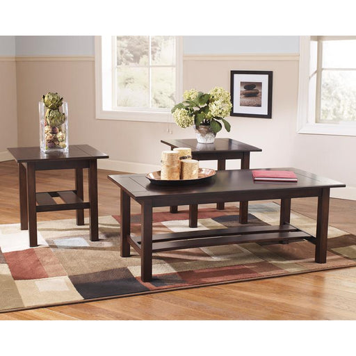 Signature Design by Ashley Lewis 3 Piece Occasional Table Set-Accent Table-Flash Furniture-Wall2Wall Furnishings