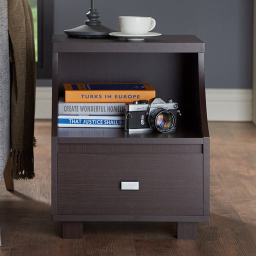 Mercia Contemporary Style Multi Storage End Table-end table-Furniture of America-Wall2Wall Furnishings