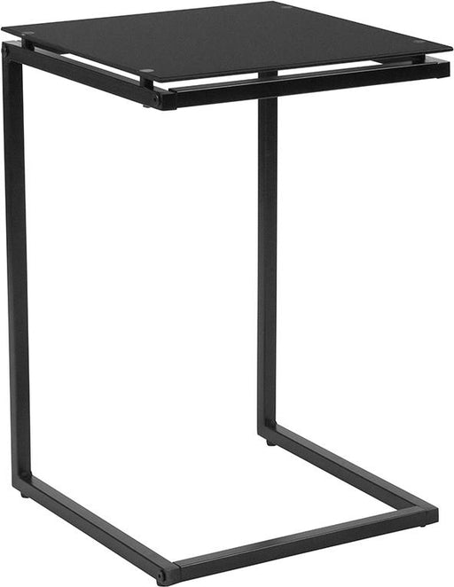 Burbank End Table with Metal Frame-Side Table-Flash Furniture-Wall2Wall Furnishings
