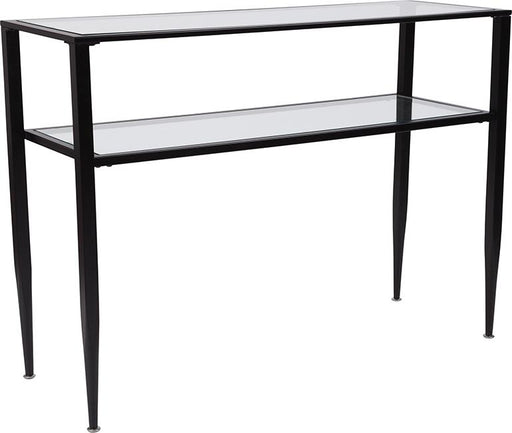 Newport Collection Console Table with Shelves and Metal Frame-Console Table-Flash Furniture-Wall2Wall Furnishings