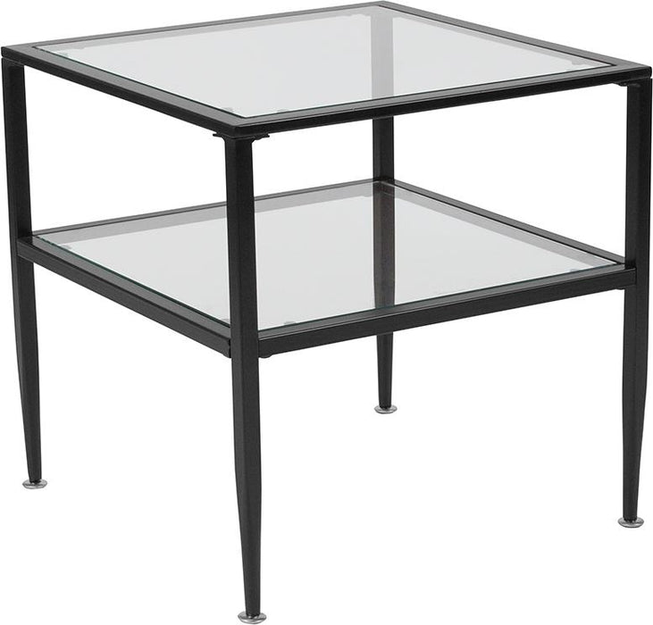Newport Collection End Table with Metal Frame-End Table-Flash Furniture-Wall2Wall Furnishings