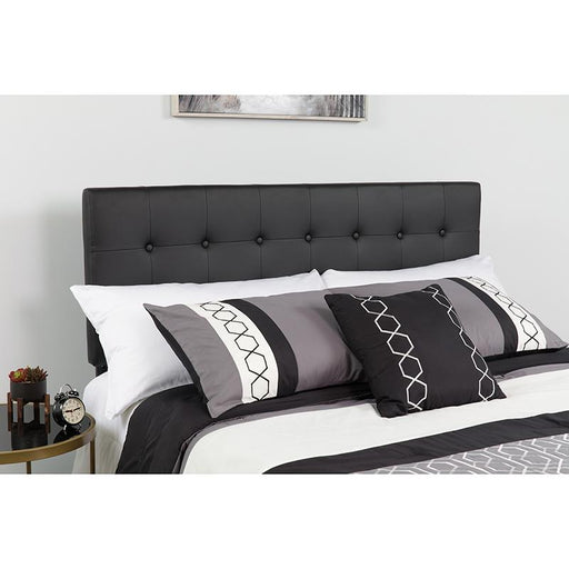 Lennox Button Tufted Upholstered Headboard-Headboard-Flash Furniture-Wall2Wall Furnishings