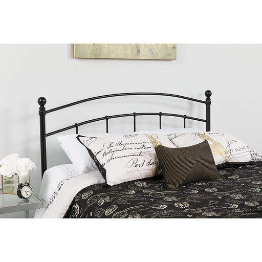 Woodstock Decorative Metal Headboard-Headboard-Flash Furniture-Wall2Wall Furnishings