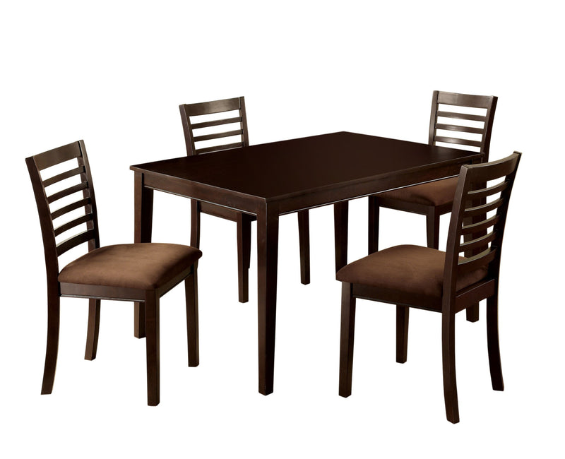 Landon 5PC Transitional Style Dining Set-dining set-Furniture of America-Wall2Wall Furnishings