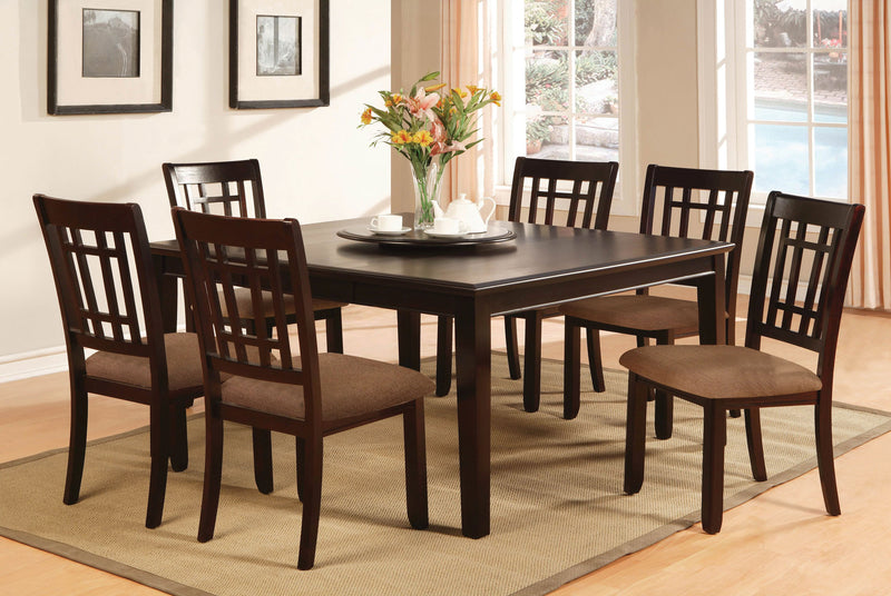 Sienna Transitional 2 PC Padded Microfiber Dinner Chairs-dining chair-Furniture of America-Wall2Wall Furnishings