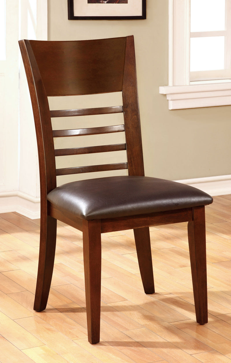 Othello Transitional 2PC Leatherette Dining Chairs-dining chair-Furniture of America-Wall2Wall Furnishings