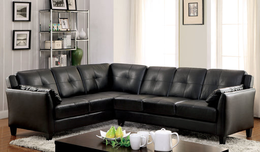 Noah Contemporary Tufted Leatherette Sofa Sectional-sectional-Furniture of America-Wall2Wall Furnishings