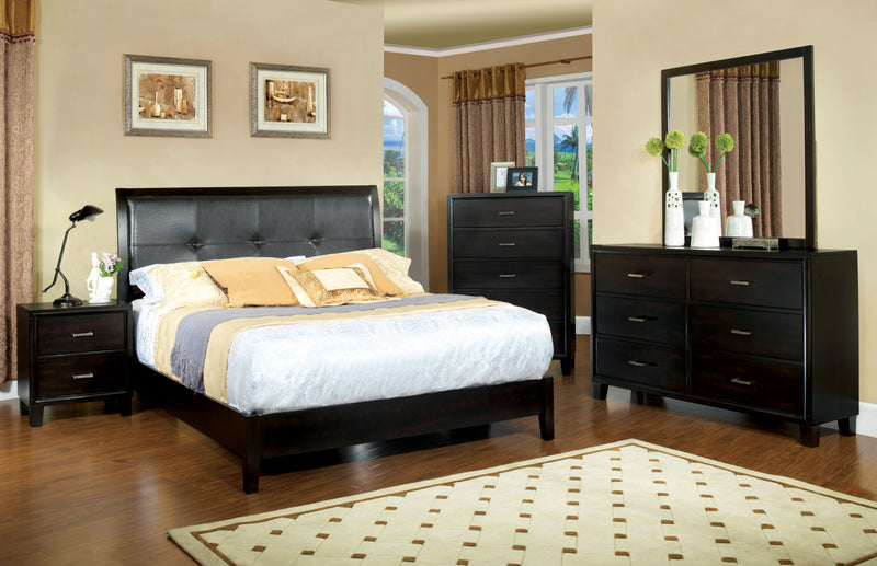 Noriah Contemporary 5-Drawer Dresser & Mirror Set-dresser-Furniture of America-Wall2Wall Furnishings