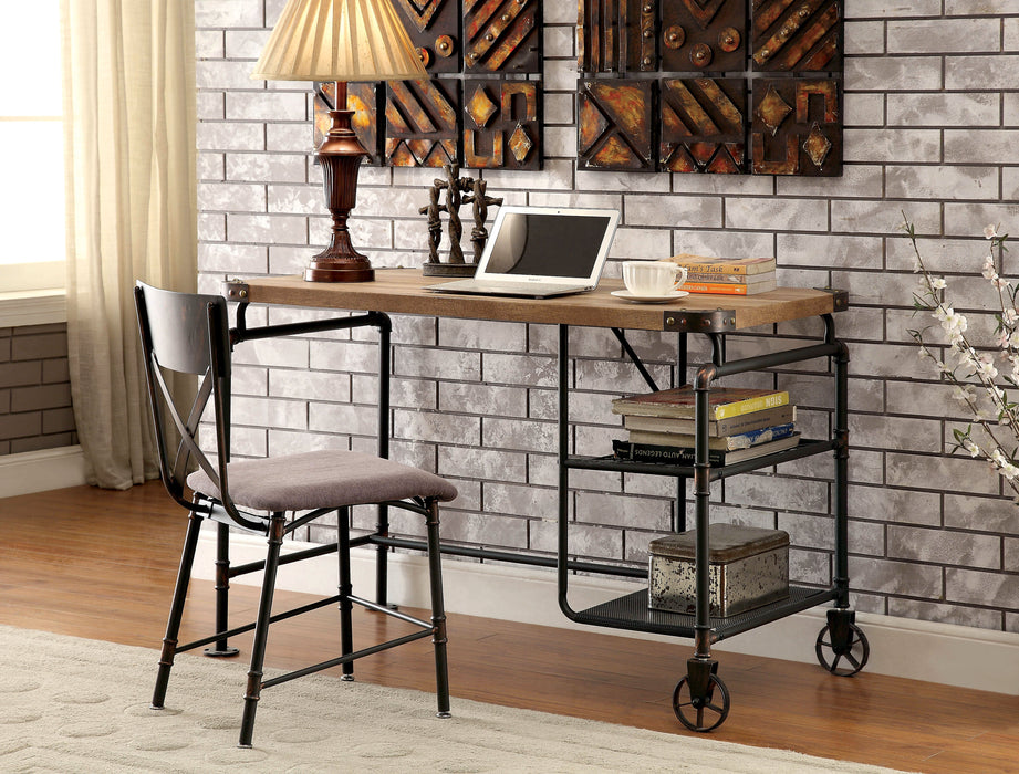turnkey stand artisan industrial revival adjustable table sit desks height computer shelves reclaimed rustic desk style n wood uk products office with
