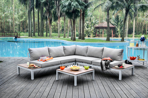 Felisa Contemporary Style L-Shaped Patio Sectional Lounge Set-outdoor sectional-Furniture of America-Wall2Wall Furnishings