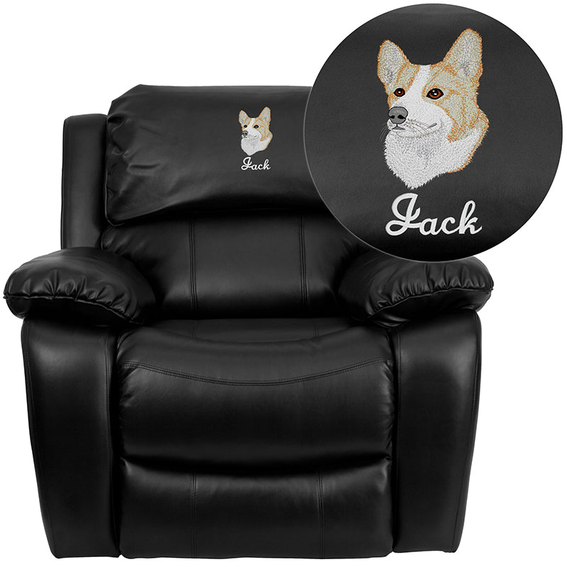 Personalized LeatherSoft Rocker Recliner-Rocker Recliner-Flash Furniture-Wall2Wall Furnishings