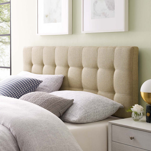 Lily Upholstered Fabric Headboard-Headboard-Modway-Wall2Wall Furnishings