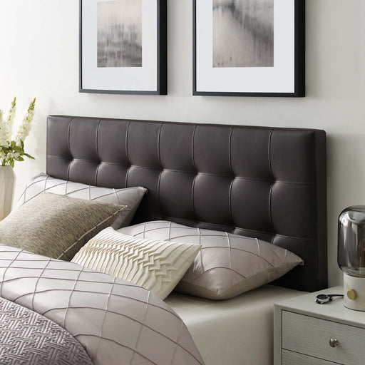 Lily Upholstered Vinyl Headboard-Headboard-Modway-Wall2Wall Furnishings