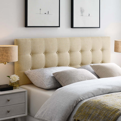 Emily Upholstered Fabric Headboard-Headboard-Modway-Wall2Wall Furnishings