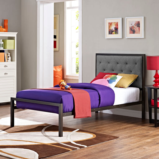 Mia Fabric Bed-Bed-Modway-Wall2Wall Furnishings