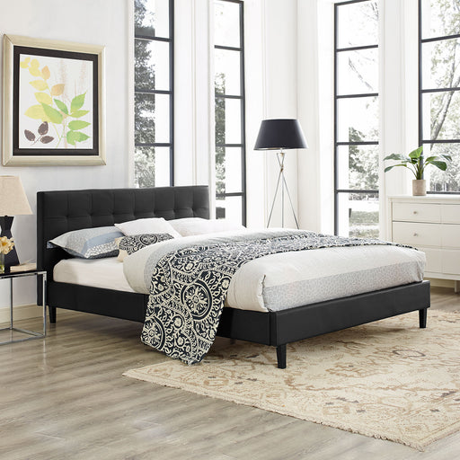 Linnea Vinyl Bed-Bed-Modway-Wall2Wall Furnishings