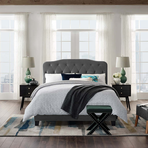 Amelia Upholstered Velvet Bed-Bed-Modway-Wall2Wall Furnishings