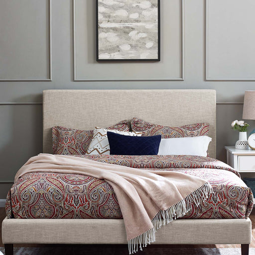 Taylor Upholstered Linen Fabric Headboard-Headboard-Modway-Wall2Wall Furnishings