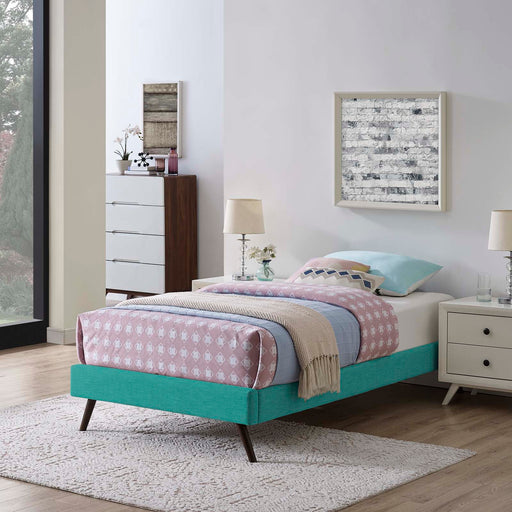 Loryn Fabric Bed Frame with Round Splayed Legs-Bed-Modway-Wall2Wall Furnishings