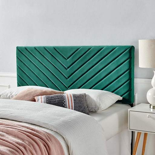 Alyson Angular Channel Tufted Performance Velvet Headboard-Headboard-Modway-Wall2Wall Furnishings