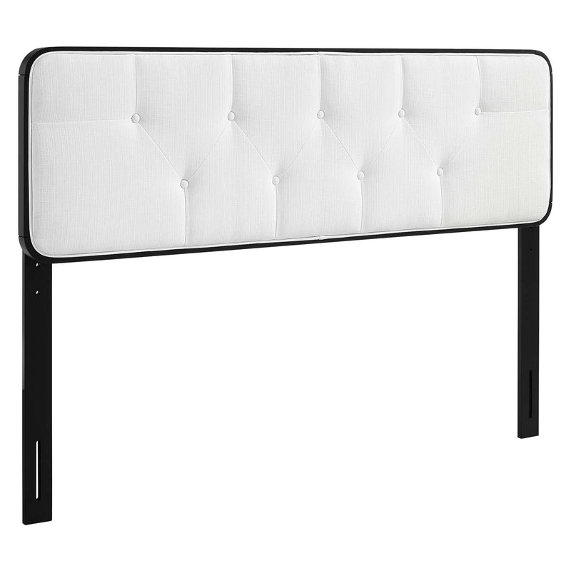 Collins Tufted Fabric and Wood Headboard-Headboard-Modway-Wall2Wall Furnishings