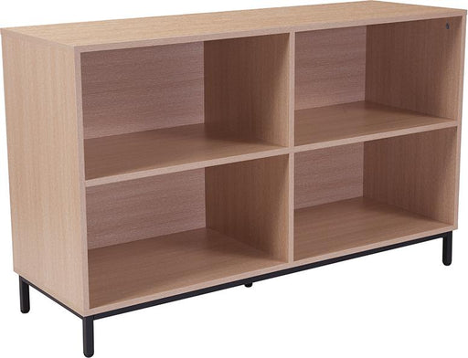 Dudley Wood Grain Finish Bookshelf-Bookcase-Flash Furniture-Wall2Wall Furnishings