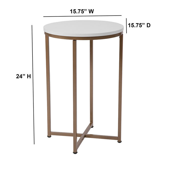 Hampstead Collection End Table with Metal Frame-End Table-Flash Furniture-Wall2Wall Furnishings