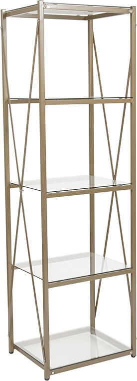 Mar Vista Collection Storage Shelf with Metal Frame-Bookcase-Flash Furniture-Wall2Wall Furnishings