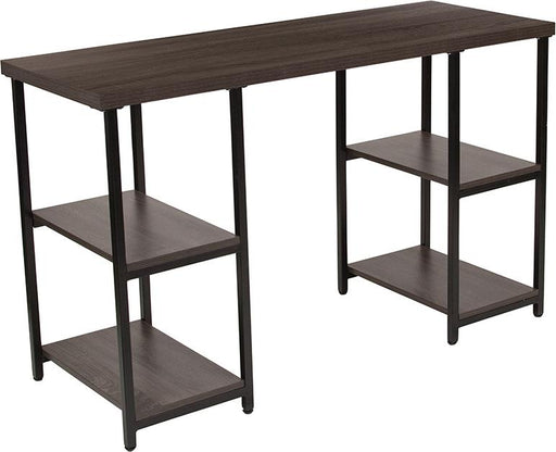 Homewood Collection Console Table with Black Metal Frame-Console Table-Flash Furniture-Wall2Wall Furnishings