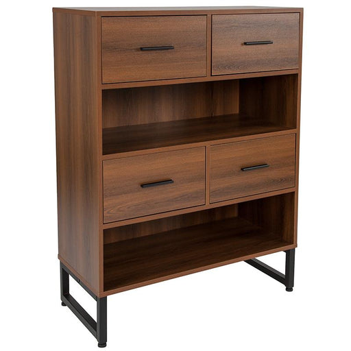 Lincoln Collection Bookshelf in Wood Grain Finish-Bookcase-Flash Furniture-Wall2Wall Furnishings