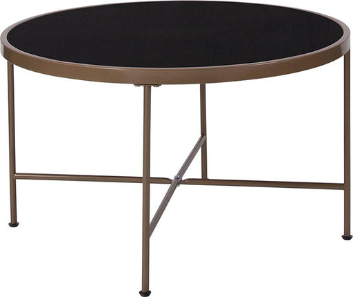 Chelsea Collection Coffee Table with Metal Frame-Coffee Table-Flash Furniture-Wall2Wall Furnishings