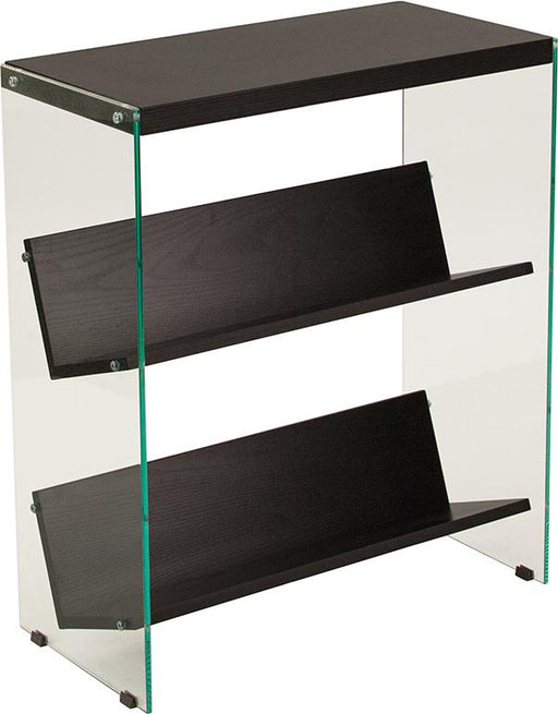 Highwood Collection Bookshelf with Glass Frame-Bookcase-Flash Furniture-Wall2Wall Furnishings