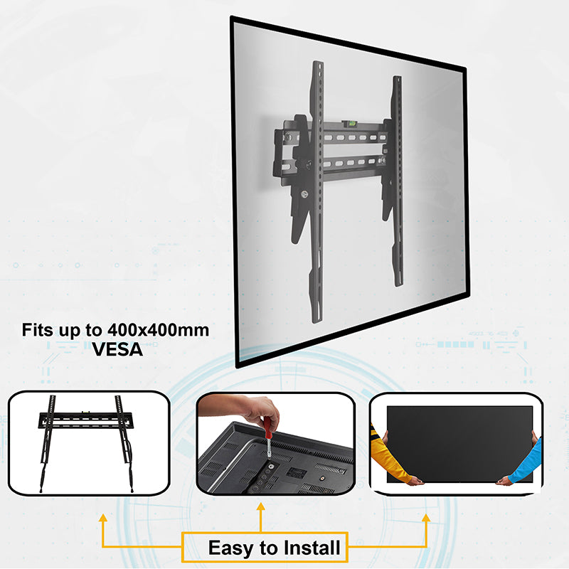 "FLASH MOUNT Tilt TV Wall Mount with Built-In Level - Magnetic Quick Release Pendants - Fits most TV's 32""-55""-TV Mount-Flash Furniture-Wall2Wall Furnishings"