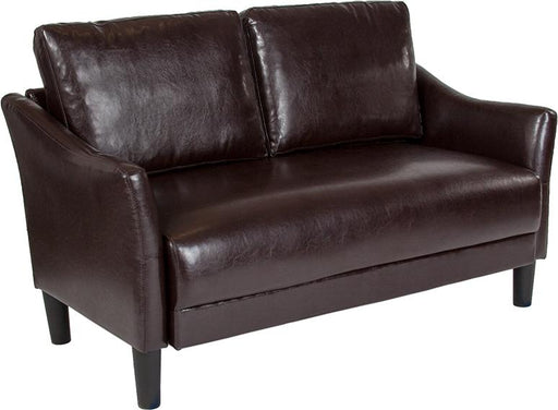 Asti Upholstered Loveseat-Loveseat-Flash Furniture-Wall2Wall Furnishings