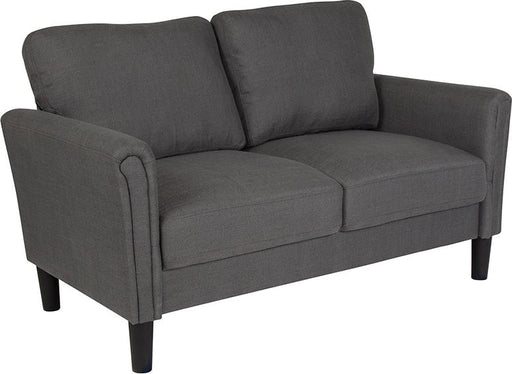 Bari Upholstered Loveseat-Loveseat-Flash Furniture-Wall2Wall Furnishings